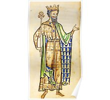 Medieval Edward I king of England illustration Poster