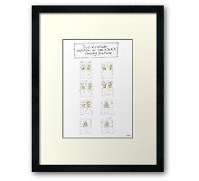 The Inevitable Evolution of Sam & Jack's Sleeping Positions Framed Print