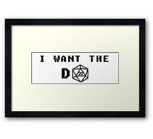 I want the D20 Framed Print