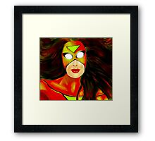 Caught in Her Web Framed Print