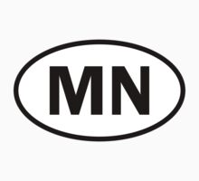 Minnesota – MN – oval sticker and more by welikestuff