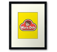 Work-Doh Framed Print