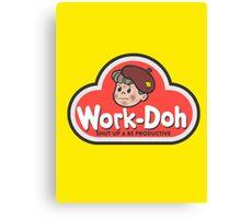 Work-Doh Canvas Print