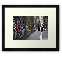 Which came first? Framed Print