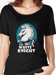 White Knight Logo in Teal Women's Relaxed Fit T-Shirt