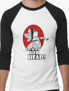 Off With Her Head Logo Men's Baseball ¾ T-Shirt