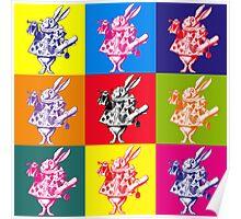 Pop Art White Rabbit Poster