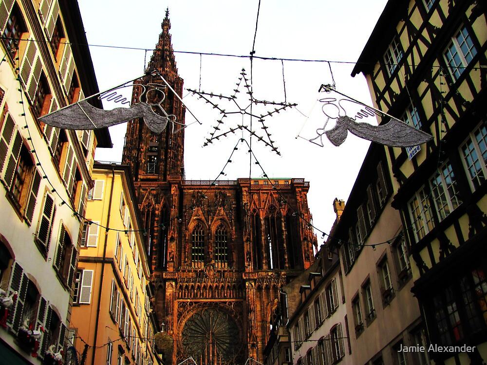 Christmas Angels over Strasbourg by Jamie Alexander