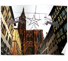 Christmas Angels over Strasbourg Poster