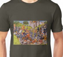 English vs French Medieval Battle Mural Unisex T-Shirt