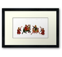 Congregation of Indian princess Framed Print