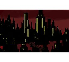 Batman The Animated Series Gotham City Photographic Print