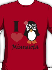 Minnesota penguin i love minnesota geek funny nerd T-Shirt