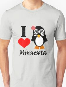 Minnesota penguin i love minnesota geek funny nerd T-Shirt