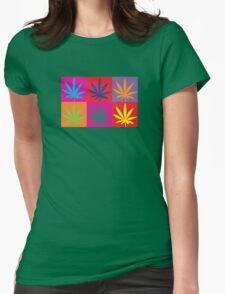Marijuana Abstract Womens Fitted T-Shirt