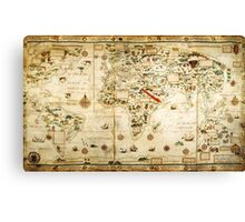 Ye Olde Medieval Mappe of the World Canvas Print