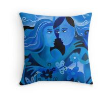 LOVERS IN BLUE Throw Pillow