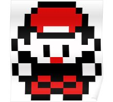Retro 8-Bit Red / Ash (Red Palette) Poster