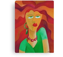 WOMAN WITH RED HAIR Canvas Print