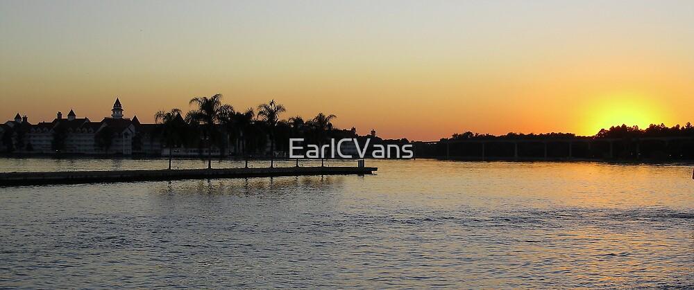 Magic Kingdom Sunset by EarlCVans