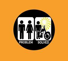 Motorbike problem solved copy geek funny nerd Unisex T-Shirt
