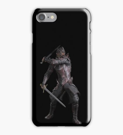 Dark Fantasy Knight with Two Swords iPhone Case/Skin