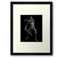 Dark Fantasy Knight with Two Swords Framed Print