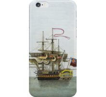 Vintage Galleon Ship Painting iPhone Case/Skin