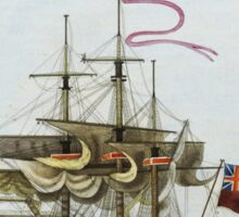Vintage Galleon Ship Painting Sticker