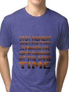 Mixing languages russian english geek funny nerd Tri-blend T-Shirt
