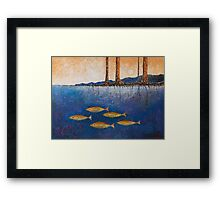 RIVER BANK Framed Print