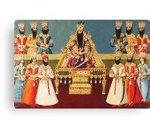 Vintage Indian Royalty Relief Canvas Print