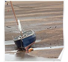 """The stranded boat"" Poster"