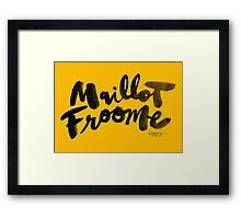 Maillot Froome : TDF Yellow Framed Print