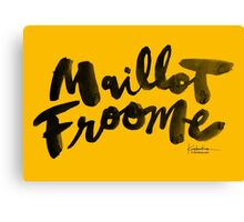 Maillot Froome : TDF Yellow Canvas Print