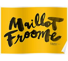 Maillot Froome : TDF Yellow Poster