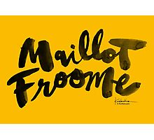 Maillot Froome : TDF Yellow Photographic Print