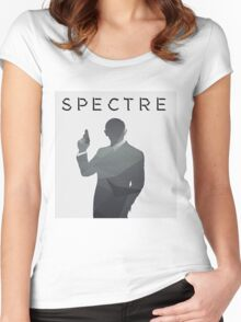 SPECTRE Grey Abstract Women's Fitted Scoop T-Shirt