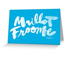 Maillot Froome : Sky Blue Greeting Card