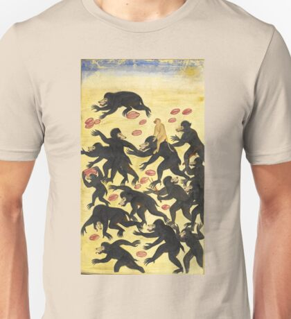 The monkeys outwitting the bears Vintage Fable illustration Unisex T-Shirt