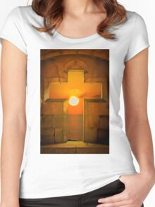 Golden age Sunset  Women's Fitted Scoop T-Shirt