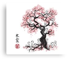 Forest Spirits sumi-e  Canvas Print