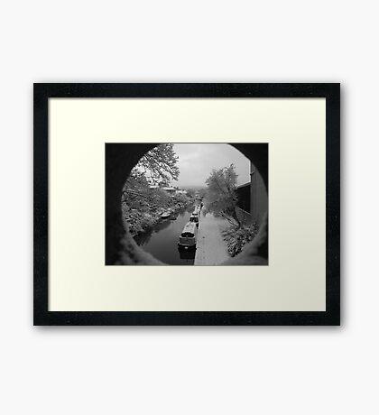 Bath Narrow Boats Framed Print