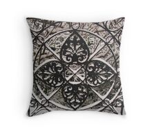 Snowy Shapes Throw Pillow