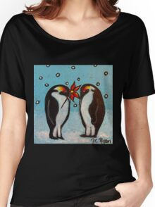 Penguin Love Women's Relaxed Fit T-Shirt