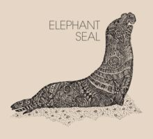 Elephant Seal Sketch T-Shirt