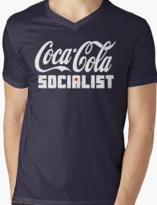 Coca-Cola Socialist Mens V-Neck T-Shirt