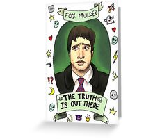 Spooky Mulder (transparent)  Greeting Card