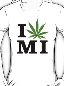 I Love Michigan Marijuana Cannabis Weed T-Shirt