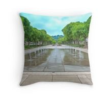 Avenue Jean Jaures Nimes Throw Pillow